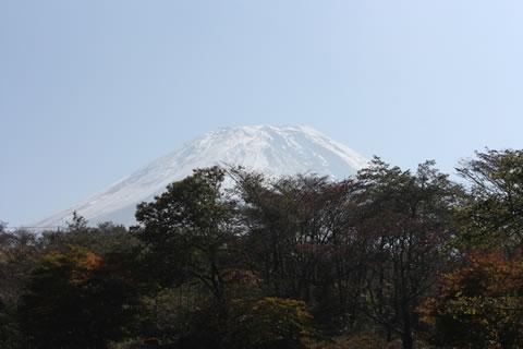 天気は最高。富士山も完璧なお姿。